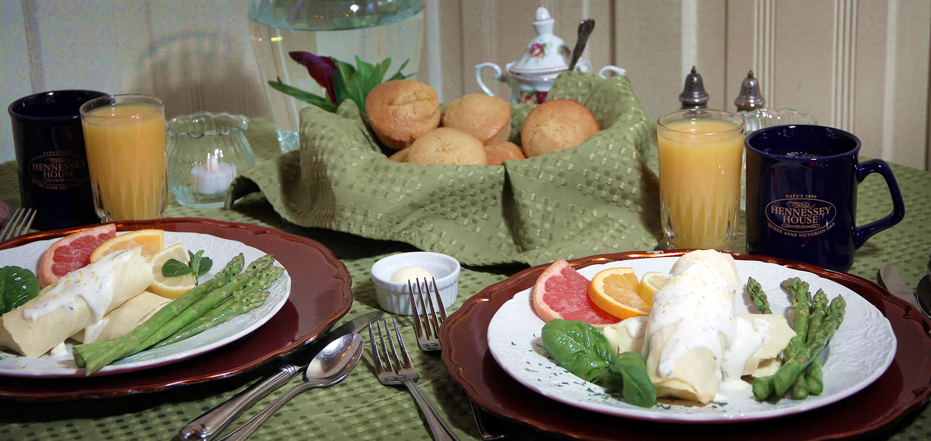 breakfast hennessey house napa california wine country bed and breakfast inn