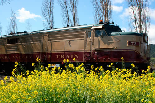 dine on the wine train while staying at hennessey house napa california wine country bed and breakfast inn